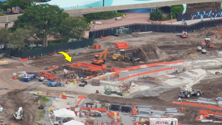 Journey of Water construction at Epcot